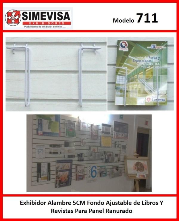 711 Exhibidor Alambre Ajustable de Libros Y Revistas