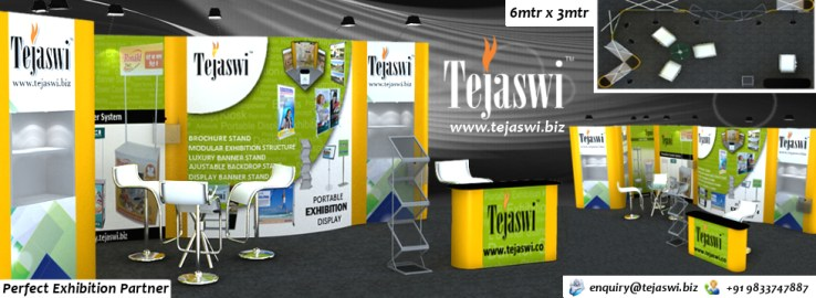 6x3 Portable Exhibition Stall