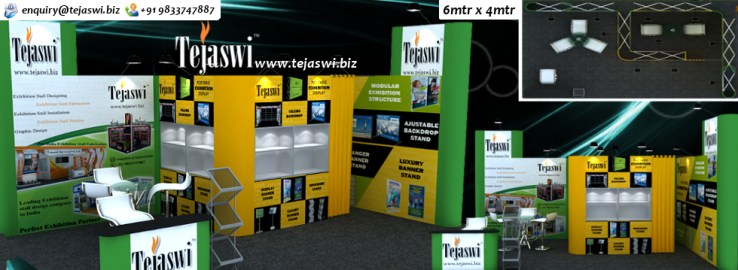 6x4 Portable Exhibition Stall