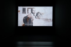TV still of an African American couple who had to leave everything behind to start a new life again