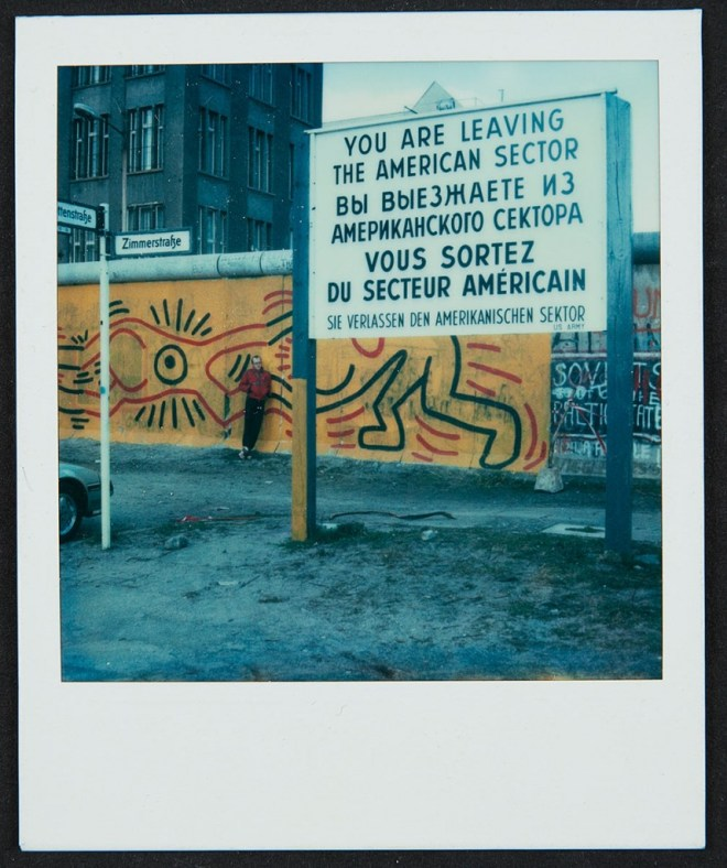 Keith Haring Berlin Wall Mural at Checkpoint Charlie Polaroid, 1986 Keith Haring Foundation