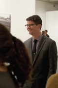 Paul Farber, curator of The Wall in Our Heads and Postdoctoral Writing Fellow, at the exhibition opening.