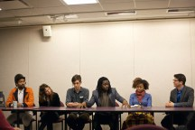 (L-R) Keir Johnston, Shira Walinsky, Mark Strandquist, Ernel Martinez, Jessica Solomon, and Paul Farber discuss at the Transforming Division panel.