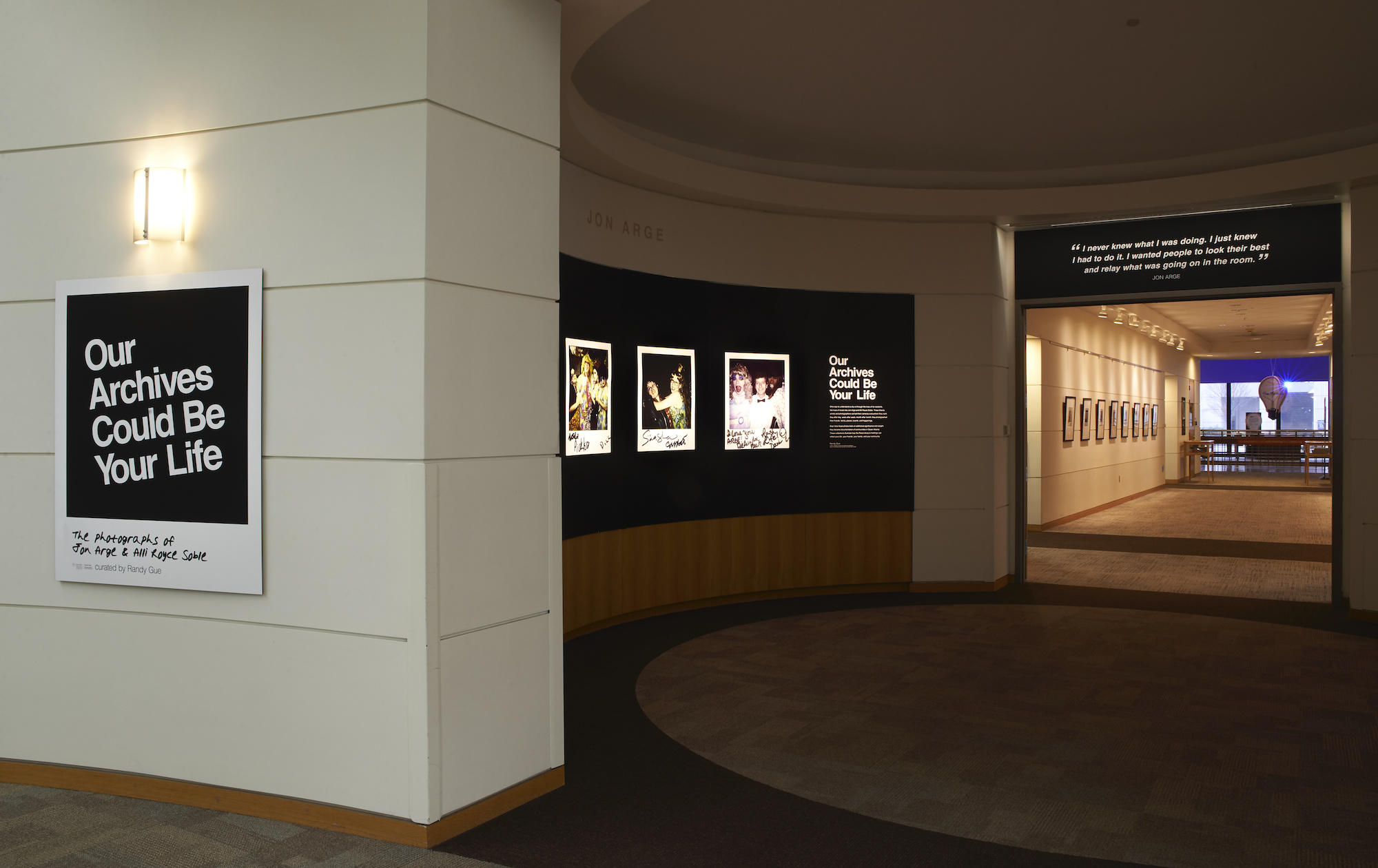 """Full view of """"Our Archives Could Be Your Life"""" exhibit located on the Woodruff Library's third floor."""