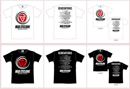 GENERATIONS ライブグッズ ツアーTシャツ