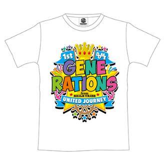 GENERATIONS UNITED JOURNEY ライブグッズ 1st DOME TOUR Tシャツ(WHITE)