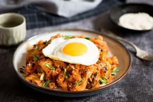 Kimchi Pork Belly Fried Rice