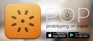 POP prototype on paper app
