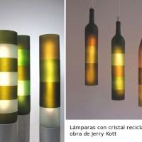 Lámparas con cristal reciclado