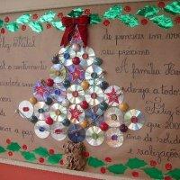 Árbol de navidad con CD
