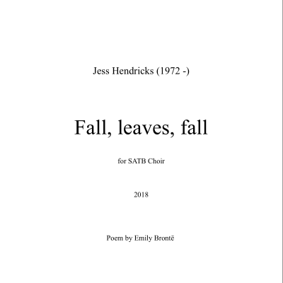 Fall Leaves Fall Cover page