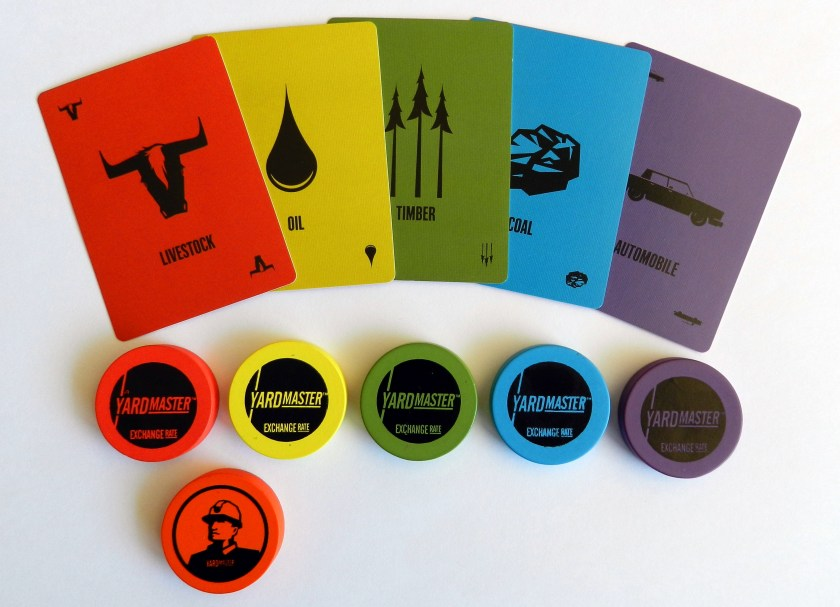 Yardmaster cards and tokens