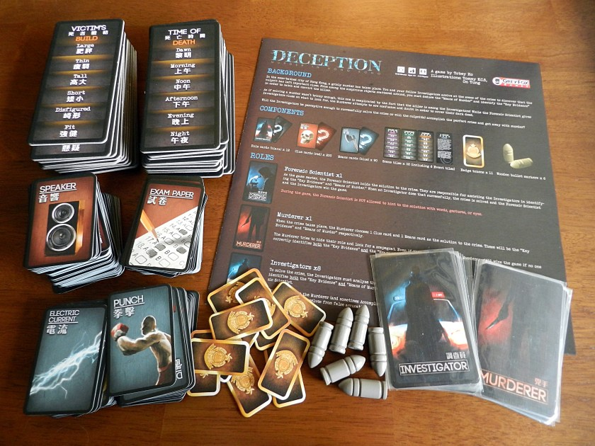 Deception may be the best murder mystery board game ever