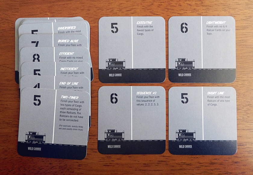 """The cabooses all have clever names. The game even includes blank caboose cards so you can make up your own cabooses, like """"The Bilbo,"""" a bonus for finishing with a very unlucky 13 points on your train."""