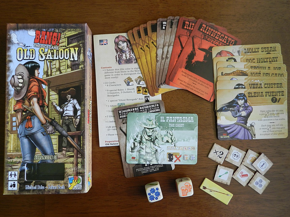 Mosey into The Old Saloon expansion for Bang: The Dice Game