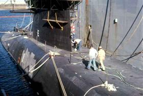USS Casimir Pulaski, SSBN633 - next to sub tender