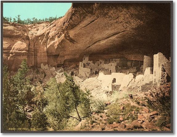 Cliff Palace, Mesa Verde, Colorado, c1898