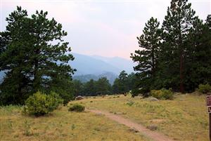 Trail from campground to Moraine Park meadows