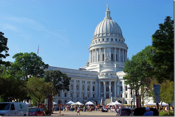Farmers' Market in Madison at Wisconsin State Capitol, 9-20-08