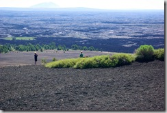 kids playing, Inferno Cone, Craters of the Moon National Monument and Preserve