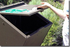 critter proof trash receptacle at craters of the moon