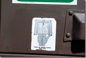 instructions on critter proof trash receptacle at craters of the moon