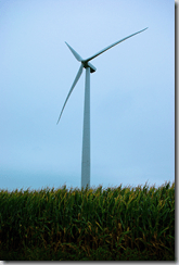 Illinois wind turbine, September 2008
