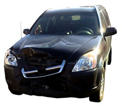 wrecked 2004 honda cr-v
