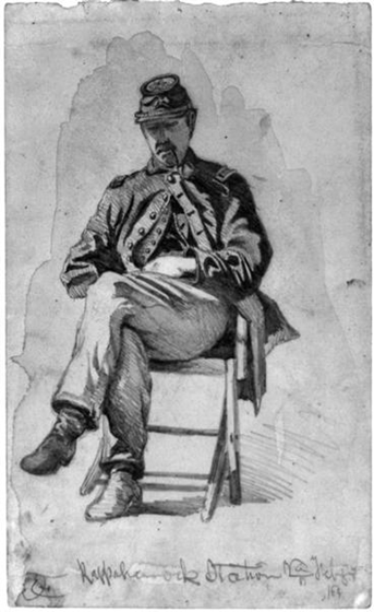 The signal officer off duty - The Civil War Art of Edwin Forbes