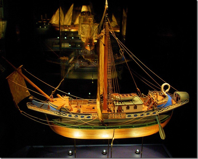 A ship miniature at The Mariners Museum, Newport News, Virginia, May 10, 2009