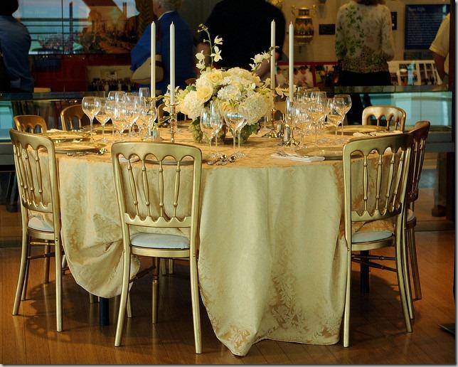 Clinton White House dinner setting