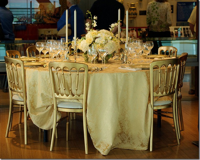 Clinton White House dinner setting