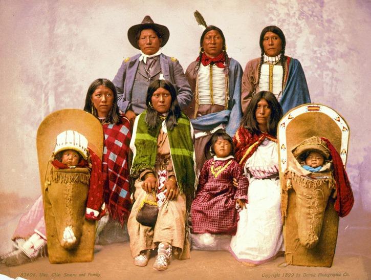 Utes--Chief Sevara [i.e.Severo] and family