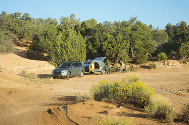 Natural Bridges National Monument overflow camping on nearby BLM land