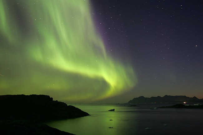 Northern Lights, Kulusuk, Greenland - a small island on the east coast, September 2005.