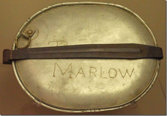 Linus Marlow's mess kit.
