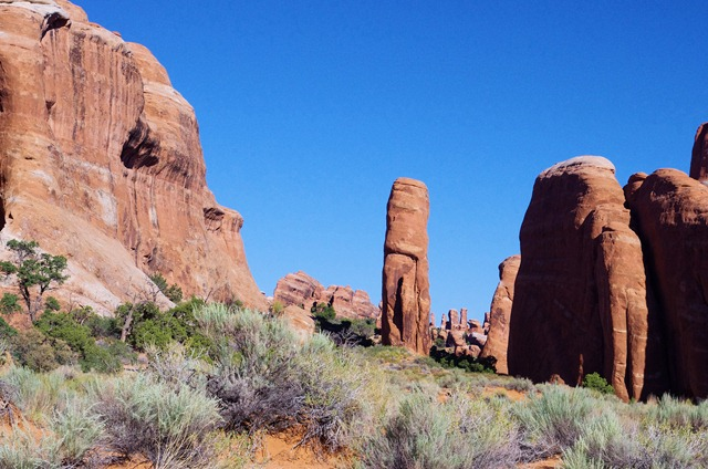 Landscape Arch trail, Arches National Park, September 22, 2011.