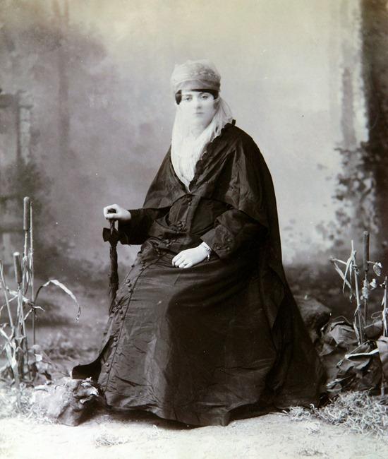 Turkish woman, circa 1860-1870 full
