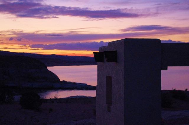 Sunset, Lake Powell, Utah and Arizona, October 2, 2011
