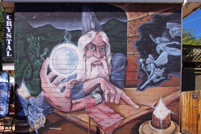 Wizard on a Wall, Manitou Springs, Colorado, September 10, 2011