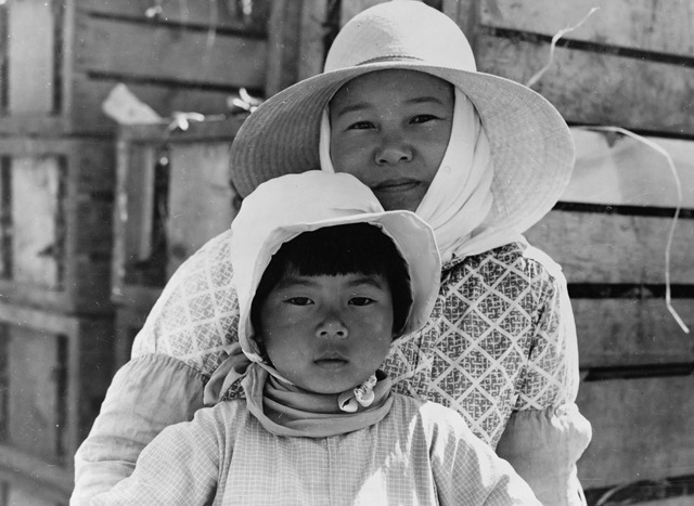 Japanese mother and daughter, agricultural workers near Guadalupe, California; photographed by Dorothea Lange