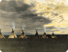 Tribal camp of the Blackfeet Indians 1044551
