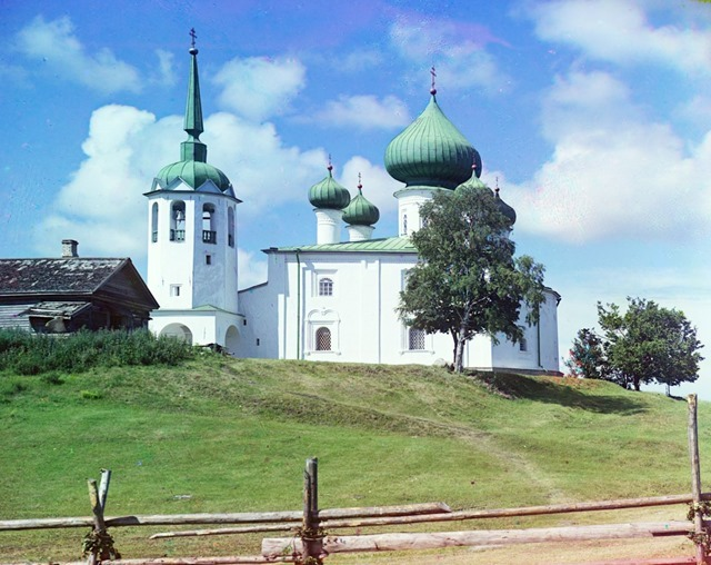 Church of Saint John the Precursor on Malyshevaia hill. Staraia Ladoga. [Russian Empire]