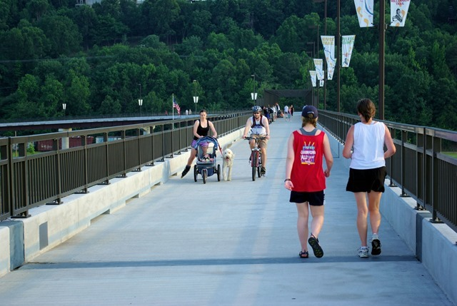 Big Dam Bridge - Pulaski County Pedestrian & Bicycle Bridge - Murray Lock and Dam on the Arkansas River May 12, 2007