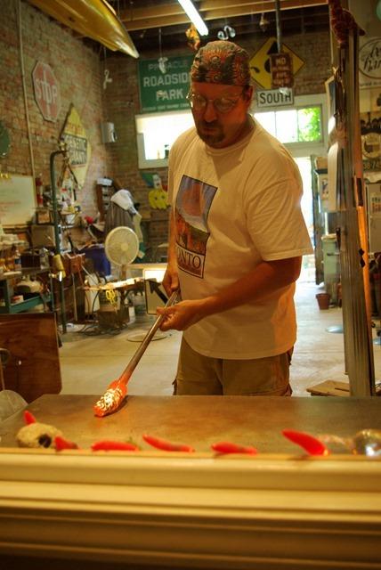 Glassworking Clarksville, Missouri, June 8, 2007