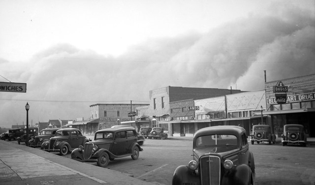 Dust storm, Elkhart, Kansas, May 1937