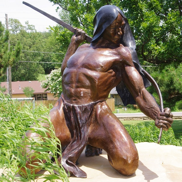 Strength of the Maker., Gilcrease Museum grounds, Tulsa, Oklahoma, June 25, 2013