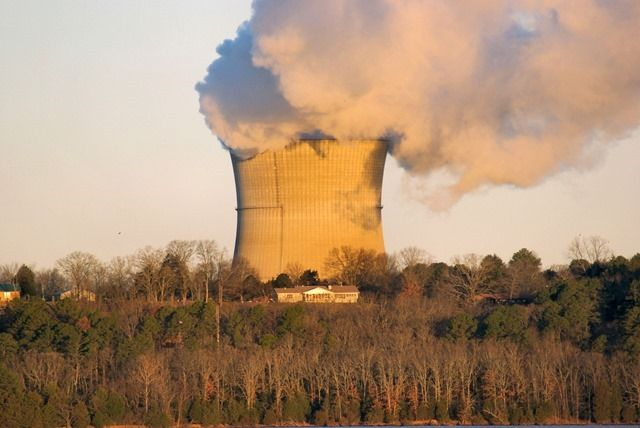 Cooling tower at Arkansas Nuclear One - Lake Dardanelle, Arkansas, January 12, 2007