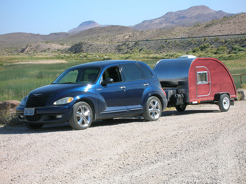 Big Woody teardrop camping trailer
