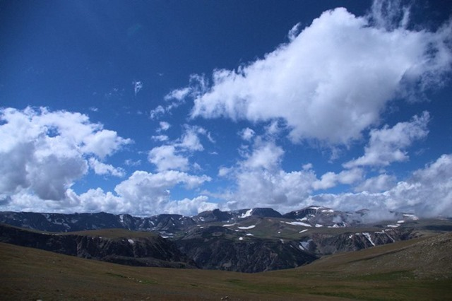 View from Beartooth Highway, which travels the Absaroka Range in Wyoming and Montana, August 14, 2014